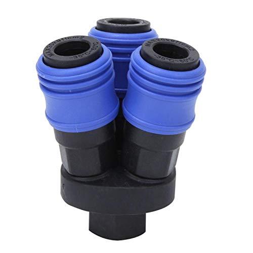 Conector de manguera de aire de alta tenacidad de acoplamiento rápido sin rebabas bidireccional para manguera de aire(SMY Tee)
