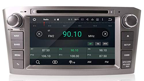 Sunshine Fly 7 Zoll Android 9.0 Auto DVD navi GPS für avensis t25 2003-2008 Radio RDS Audio Video Stereo Multimedia System unterstützung überprüfung Kamera dvr OBD lenkradsteuerung WiFi