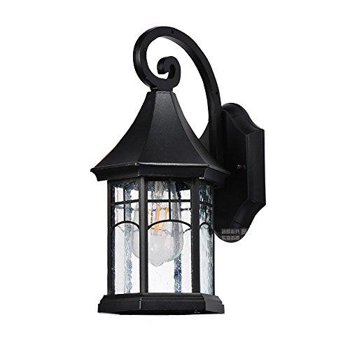 Flashing buitenwandlamp, zeshoekig, waterdicht, mini-paviljoen, eenvoudige moderne verlichting, geschikt voor hotel/hotel/hal/terras
