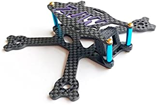 Usmile 95mm 2 inch Micro Carbon Fiber Quadcopter Frame for FPV Quad Racing Support 1103 1104 Brushless Motors 20x20 20x25 mounting Holes Support Emax Magnum Mini F3 Flight Controller M3 mounting FC