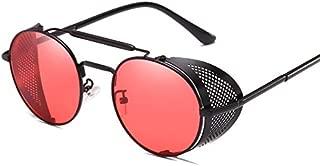 TOOGOO Retro Round Metal Sunglasses Steampunk Men Women Brand Designer Glasses Uv Protection-Gold