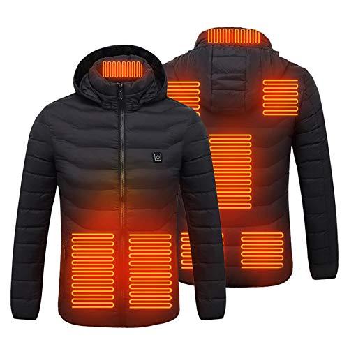 Interesty Jaqueta aquecida para homens e mulheres, aquecimento USB para aquecer o corpo para andar de bicicleta e motocicleta, pesca, esqui