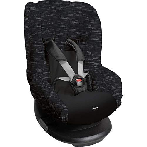Dooky Matrix Funda de asiento infantil (ajuste universal para muchos modelos populares, grupo de edad 1+ 9-18 kg, sistema de cinturón de 3 y 5 puntos) Negro (126841)