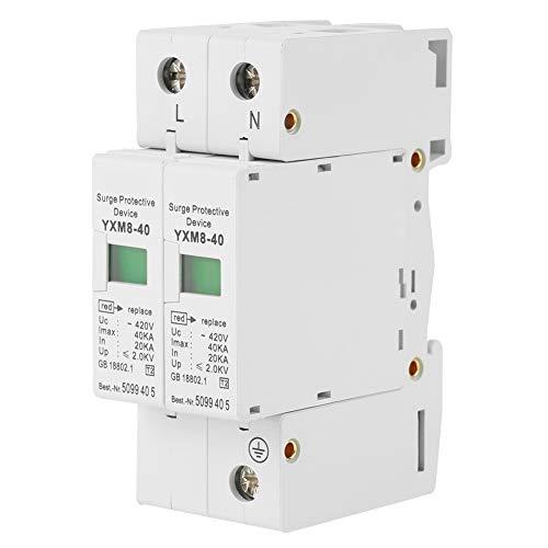 Dispositivo de detención - 1 pieza 220V 2P 40KA Protección contra sobretensiones doméstica Dispositivo de detención de bajo voltaje Protector de sobretensión doméstica