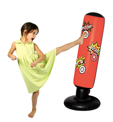 Sportcraft Electronic Inflatable Punching Tower Bag Freestanding Children Fitness Play Adults De-Stress Boxing Target Bag