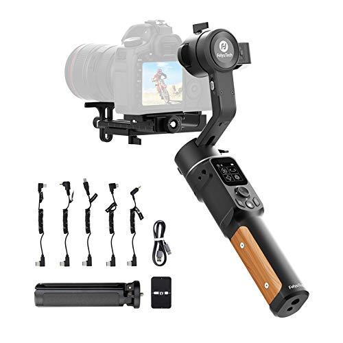 FeiyuTech AK2000C Kamera Gimbal, DSLR Stabilisator Handheld Camera Stabilizer 3-Achsen bis 2,2kg für Spiegellose Canon 6D 5D Mark Nikon Z7 D7500 Sony A9 A7 Panasonic GH4 GH5/GH5S GX9 GF9