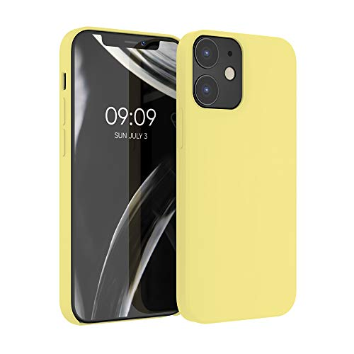 kwmobile Hülle kompatibel mit Apple iPhone 12/12 Pro - Hülle Handyhülle gummiert - Handy Hülle in Gelb matt