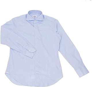 (ジャンネット)GIANNETTO 長袖シャツ メンズ ホワイト ドレスシャツ サックスブルー 正規取扱店
