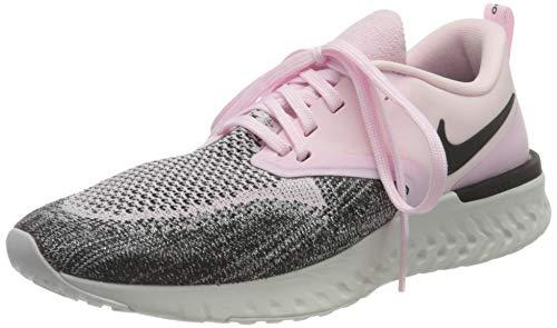 NIKE Odyssey React Flyknit 2, Zapatillas de Running Mujer, Pink Pink Foam Black Platinum Tint 601, 38 EU