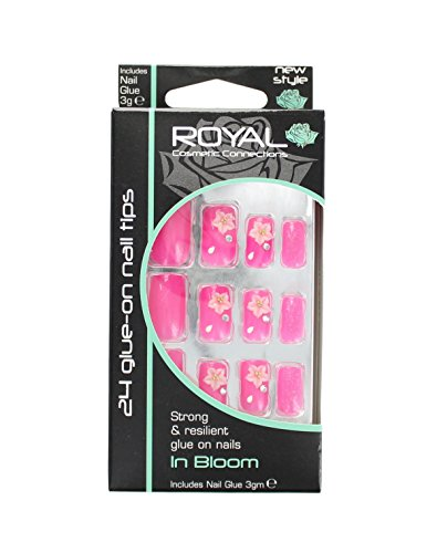 Royal 24 Capsules Ongles A Coller Solides & Résistantes - In Bloom
