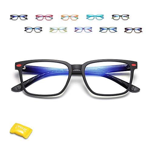 Payant Kids Blue Light Blocking Glasses - Anti Eyestrain & UV Protection, Blue Light Glasses for Kids Boys Girls Age 7-12, Anti Bluelight Computer Gaming Glasses for Kids - Black