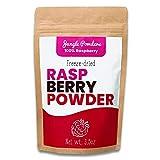 Polvo de Frambuesa Jungle Powders 100g 100% Natural Sin OGM Vegano Polvo de Frambuesa Rosa Liofilizada Concentrado de Super Polvo de Frutas Rojas para Batidos