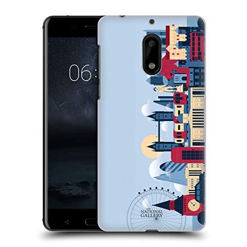 Head Case Designs Ufficiale The National Gallery London Skyline Arte Cover Dura per Parte Posteriore Compatibile con Nokia 6