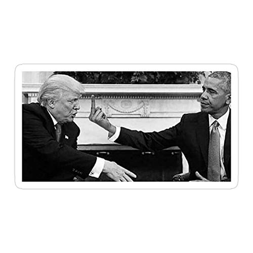 Okumahome (3 PCs/Pack) Obama Flipping Off Trump 3x4 Inch Die-Cut Stickers Decals for Laptop Window Car Bumper Helmet Water Bottle