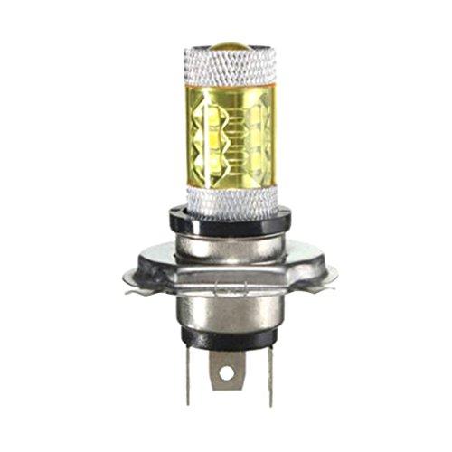 Sharplace H4 80W LED Ampoule Voiture Phare Lampe Feux De Brouillard Lumière Jaune Feu de Route