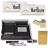Powermatic 1 Plus Elite Neueste Edition SEPILO Zigarettenstopfmaschine I Zigarettenstopfer Zigarettenmaschine Zigarettenfertiger Zigarettenhülsen Filterhülsen Benzinfeuerzeug (Gold Set)