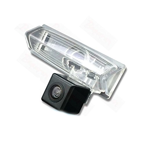 Dynavsal Rückfahrkamera wasserdicht Nachtsicht Auto Rückansicht Kamera Einparkhilfe Rückfahrsystem, Kennzeichenleuchte (Schwarz) für Toyota Vios Picnic Echo Verso Harrier Lexus Ipsum Avensis