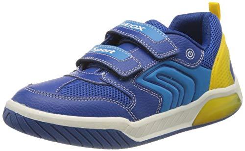 Geox Jungen J INEK Boy D Sneaker, Blau (Royal/Yellow C0797), 30 EU