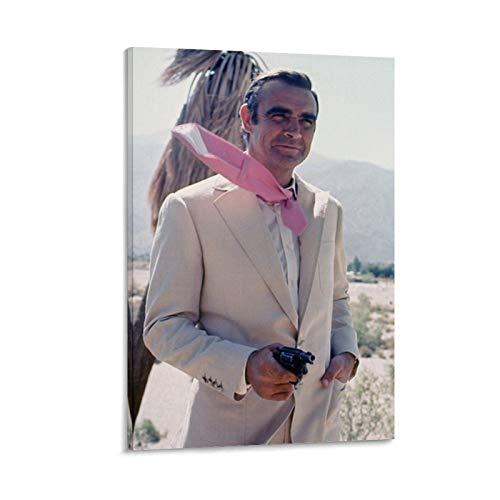 NQSB Film Stars Sean Connery 007 James Bond 14 - Poster su tela e stampa artistica da parete, 50 x 75 cm