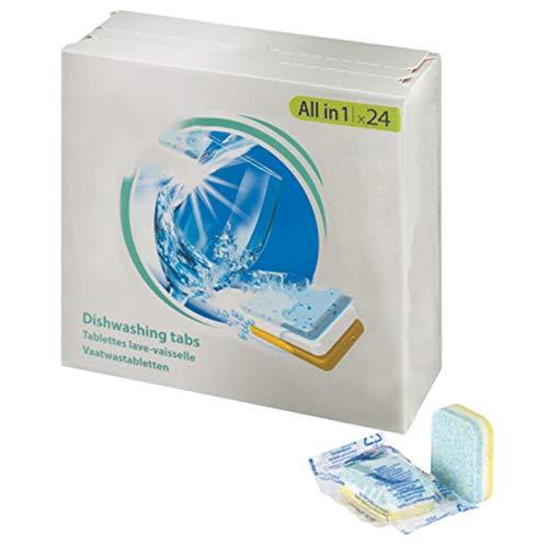 SPARES2GO All in 1 azione Disincrostante calcare Pastiglie per lavastoviglie (confezione da 24)