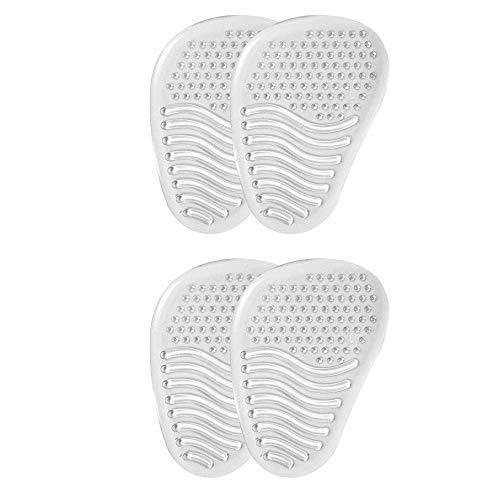 VITAL FOOT - Media Plantilla Gel Silicona Transparente Zapatos Tacón Dolor - 2 pares