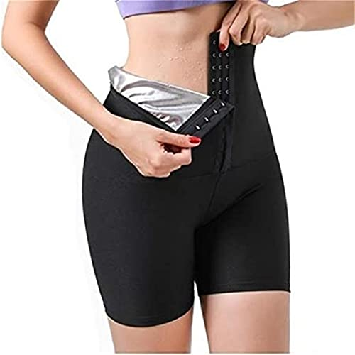 Pantalones 2 En 1 Pantalones Pantalones De Neopreno Pantalones De Sauna Para Mujer Leggings Deportivos De Yoga Cintura Alta Para Entrenamiento Suéter Para Perder Peso ( Color : Black , Size : Large )
