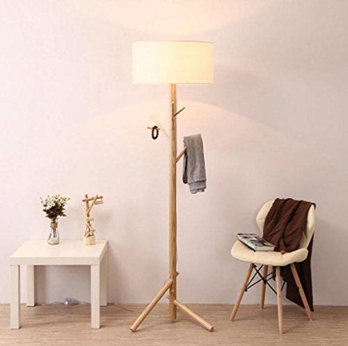 Garderobenständer Nachttischlampe American Creative Wohnzimmer Wohnzimmer Garderobe Massivholz Stehleuchte [Energieklasse A +++]
