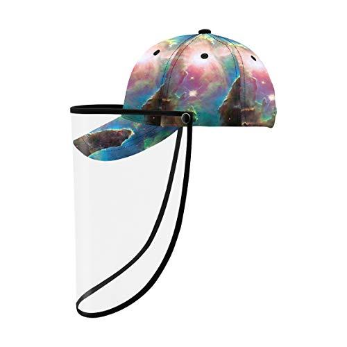 SUUJ Chapeau de Protection Unisexe boucliers de Protection Chapeau, création de piliers éléments de nébuleuse Aigle ce Chapeau Casquette de Baseball Amovible Chapeau de Jeu dété Respirant