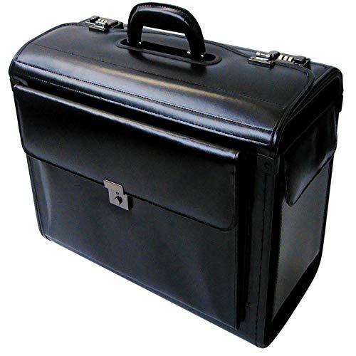 Tassia - Trolley pilota bagaglio a mano - vera pelle - Borsa da pilota