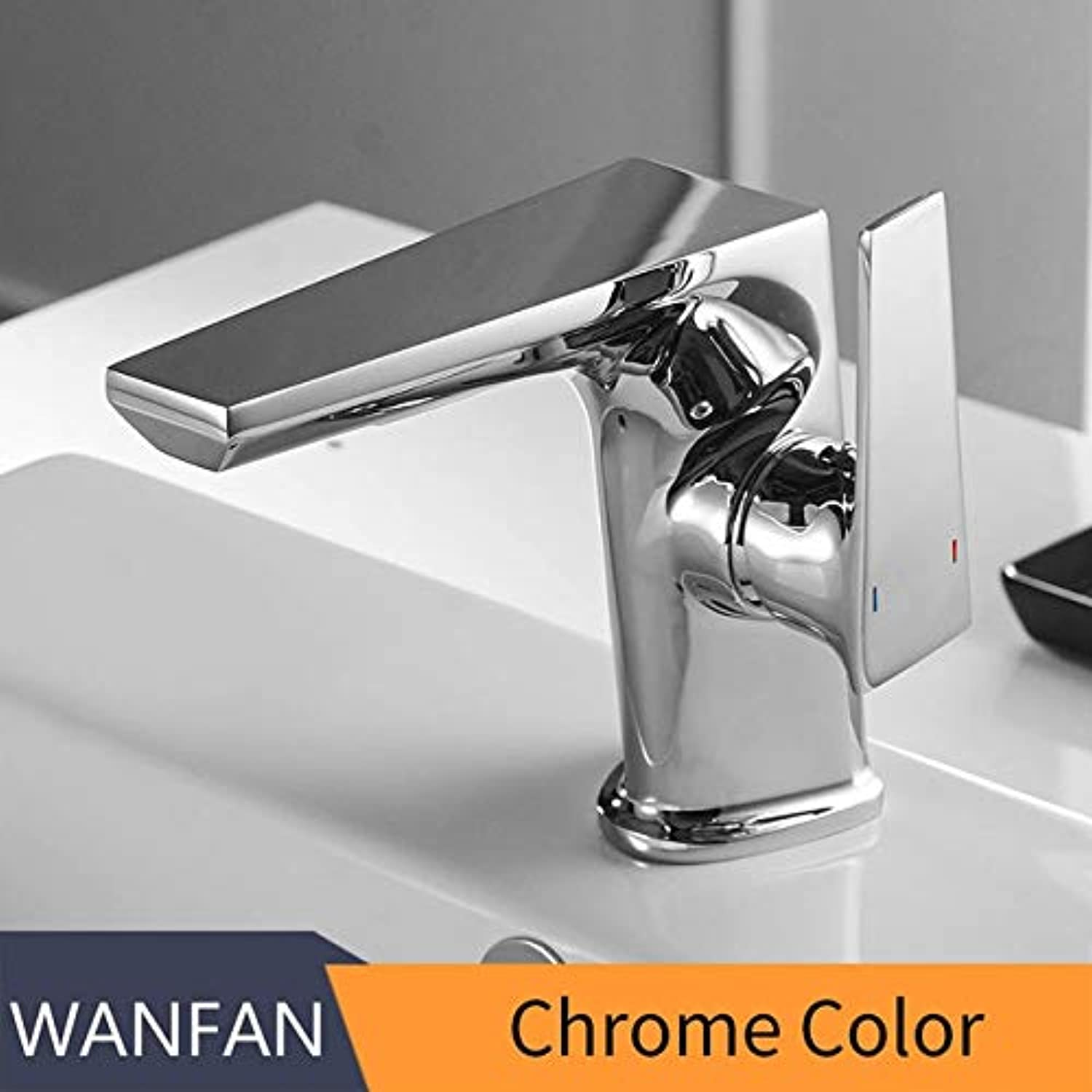 U-Enjoy Chandelier Faucet Retro Basin Chrome Taps Top Quality Bathroom Faucet Sink Faucet Single Hole Deck Vintage Handle Wash Hot Cold Mixer Tap Crane Free Shipping [Chrome]