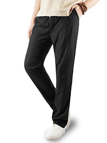 CloSoul Direct Pantaloni Sportivi Uomo Casual Pantaloni di Lino con Vita Elastica.