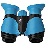 Binoculars for Kids, Gifts for 3-12 Years Boys Girls 8x21 High-Resolution Optics Shockproof Folding Mini Binoculars Toys for Bird Watching Nature Explore Travel Camping Outdoor Play (Light Blue)