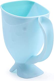 ZSQSM Baby Shampoo Rinse Cup Whale Shape Bath Rinser Pail for Kids Washing Hair Washing Out Shampoo Baby Bath Mug Made fro...