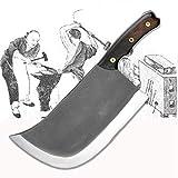 Metal forjado Hecho a mano Clip de acero Chef Cuchillo de deshuesado Split Butcher Cuchillo de carne Cocina Profesionales Cuchillos de corte grande y pesado cuchillo chef de