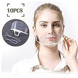 10 Unidades Boca Visera pantalla facial Cubierta de boca transparente antiniebla para Spray antinieb...