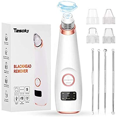 Tesoky Blackhead Remover Vacuum, Electric Blackhead Removal Tool with...