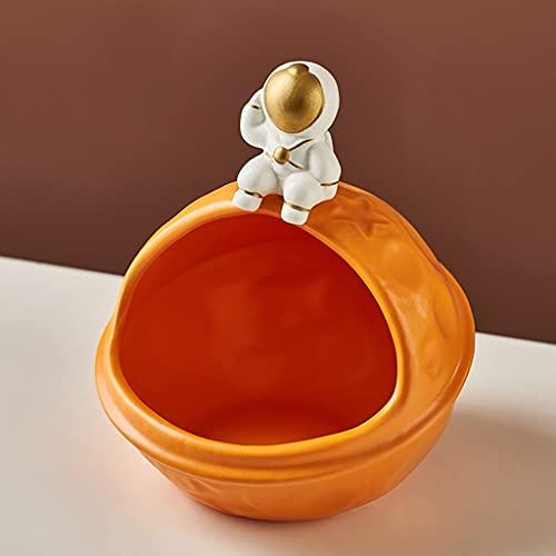 Spaceman - Cuenco para guardar joyas, caja de almacenamiento de cosméticos, cuenco para llaves, caja de almacenamiento de dulces y frutas, decoración del hogar y sala de estar (color 2)