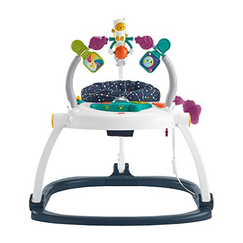 Fisher-Price Saltador Gatito Astronauta Plegable, Jumperoo Astro Kitty, regalo para bebes (Mattel HBG73)