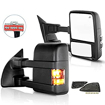 ECCPP Towing Mirrors Replacement fit for Ford for F250 for F350 for F450 for F550 Power Heated Signal Pair Mirrors 2008 2009 2010 2011 2012 2013 2014 2015 2016