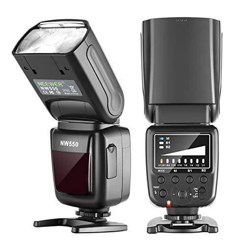 Neewer NW550 Flash Speedlite Compatibile con Canon Nikon Panasonic Olympus Pentax, Sony con Mi Hotshoe & Altre Reflex Digitali e Mirrorless Munite di Standard Piedino Hotshoe