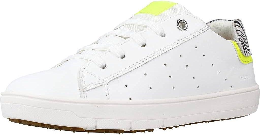 Geox Girl's Silenex 1 (Little Kid/Big Kid) White/Yellow 29 (US 11 Little Kid) M