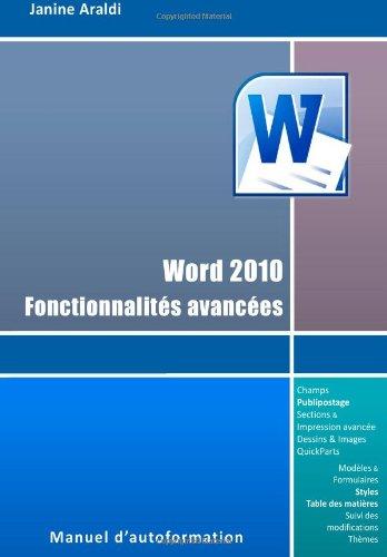 Word 2010 - Fonctionnalités avancées