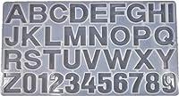 固まるハーバリウム そらプリ クリアリウム シリコンモールド レジン型 アルファベット数字シート 表 1個 360mm×195mm