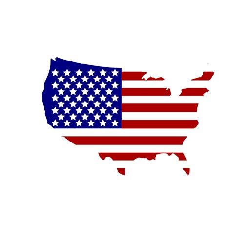 Amosfun - Adhesivo Decorativo para Pared, diseño de Bandera Estadounidense