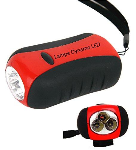 Freetime Lampe Dynamo à LED,Accessoires de Camping,Lampe Torche 3 LEDs