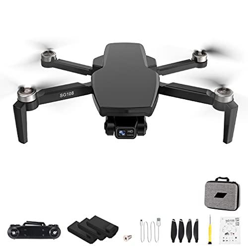 RHNE SG108 Pro 4K Drone 2-Axis Gimbal Cámara Profesional GPS 5G WiFi FPV Dron Sin escobillas Larga Distancia 1000m RC Quadcopter Negro 3 * baterías