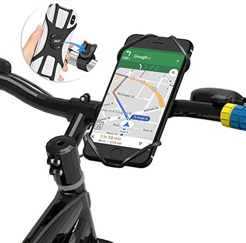 BAONUOR Fahrrad Handyhalterung, 2020 Verbesserte Version } Universal Handyhalterung Fahrrad Abnehmbar, 360° drehbare Fahrradhalterung für 4-6.5 Zoll Smartphones