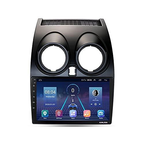 ADMLZQQ para Nissan Qashqai 1 J10 2006-2014 2Din 9 Pulgadas Radio Automóvil Estéreo, Navegación GPS Android 10.0, FM/RDS/Bluetooth/Controles del Volante/Cámara Trasera,8core,4G+WiFi: 4+64G