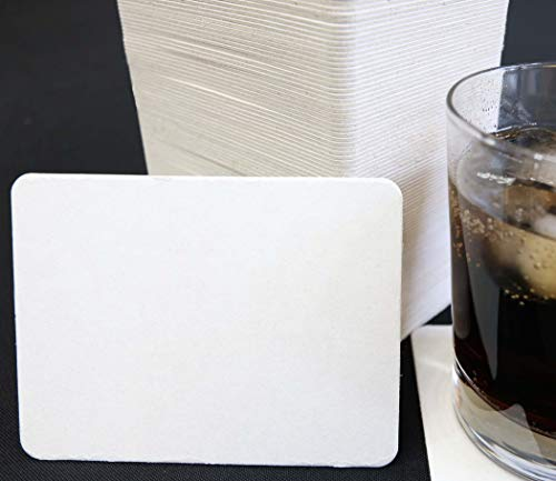 Coasters Standard Off-White 100 Pack Heavyweight Paperboard Pulp Board for Drinks DIY Arts Crafts Mini Art Zen Boards 34x45 Perfect Size for Mini Drawings