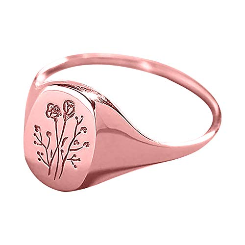 Rose Knuckle Stacking Rings for Women Engagement Rings Creative Adjustable Personalized Ring Women's Accessories Weedding Rings Valentine's Day Present(8,Rose gold)
